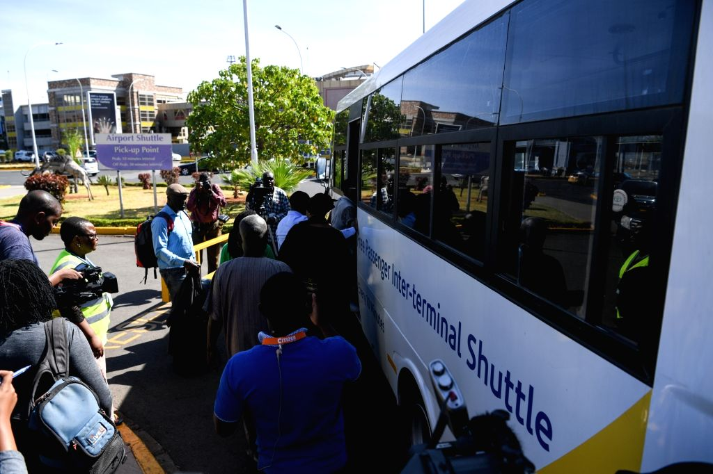 NAIROBI, March 10, 2019 - Relatives of the victims of the Ethiopian Airlines flight ET302 take a shuttle bus to hotel to wait for further information at the Jomo Kenyatta International Airport in ...
