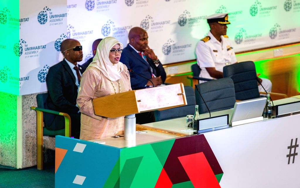 NAIROBI, May 28, 2019 - UN-Habitat Executive Director Maimunah Mohd Sharif speaks at the opening ceremony of the first session of the UN-Habitat Assembly in Nairobi, Kenya, May 27, 2019. The first ...