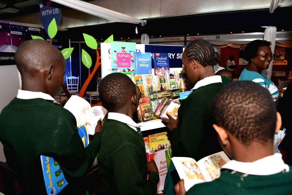 NAIROBI, Sept. 27, 2017 - Local students visit the Nairobi International Book Fair in Nairobi, capital of Kenya, on Sept. 27, 2017. A delegation of Chinese publishing sector on Wednesday showcased ...