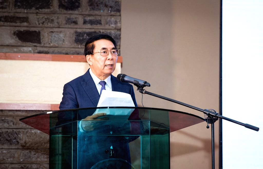NAIROBI, Sept. 5, 2019 - Bai Chunli, president of the Chinese Academy of Sciences (CAS), speaks during the opening ceremony of an international conference on biodiversity at Maasai Mara University, ...