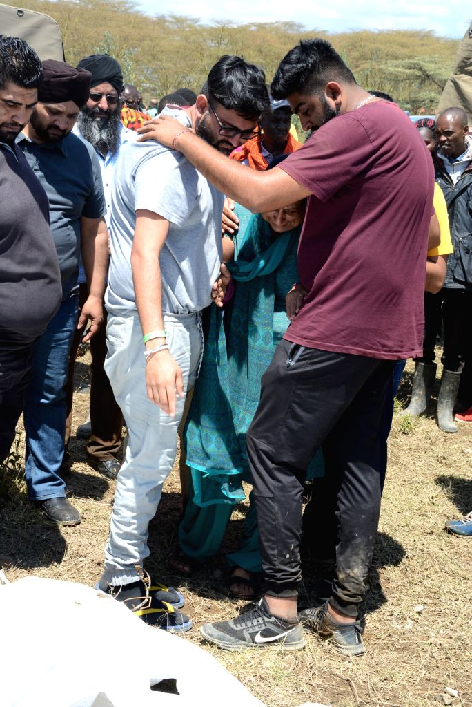 NAIVASHA (KENYA), Sept. 2, 2019 Relatives mourn for victims at the scene where tourists and their tour guide were swept away by floods at the Hell's Gate National Park in Naivasha, Kenya, ...
