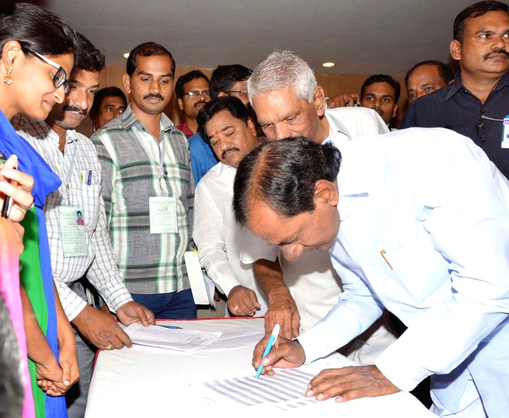 Telangana Chief Minister K Chandrasekhar Rao during the inauguration of the orientation programme for TRS representatives at Nagarjuna Sagar in Nalgonda district of Telangana on May 2, ... - K Chandrasekhar Rao