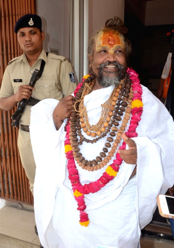 """Namdeo Das Tyagi popularly known as """"Computer Baba"""" who has been given Minister of State rank by Madhya Pradesh Government in Bhopal on April 4, 2018."""