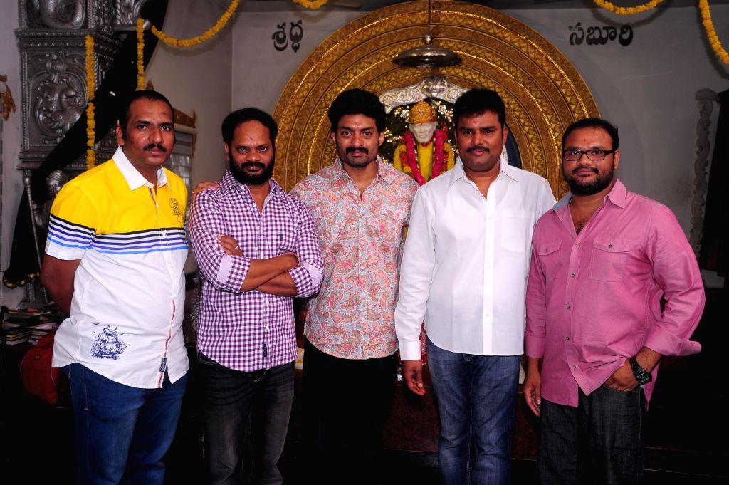 Nandamuri Kalyam Ram`s film muhurat at Film Nagar Sai Baba Temple at Hyderabad in 14 May, 2014.