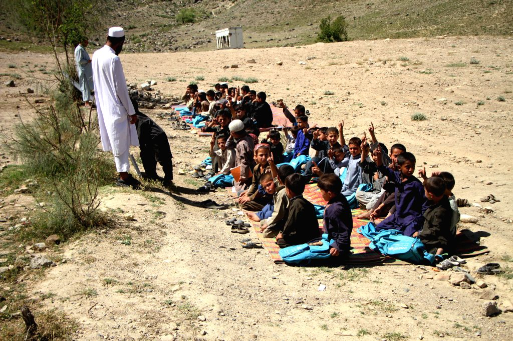 NANGARHAR, June 2, 2019 - Afghan students attend a class at a local school in Haska Mina district of Nangarhar province, Afghanistan, May 29, 2019. A former base of the hardliner Islamic State (IS) ...