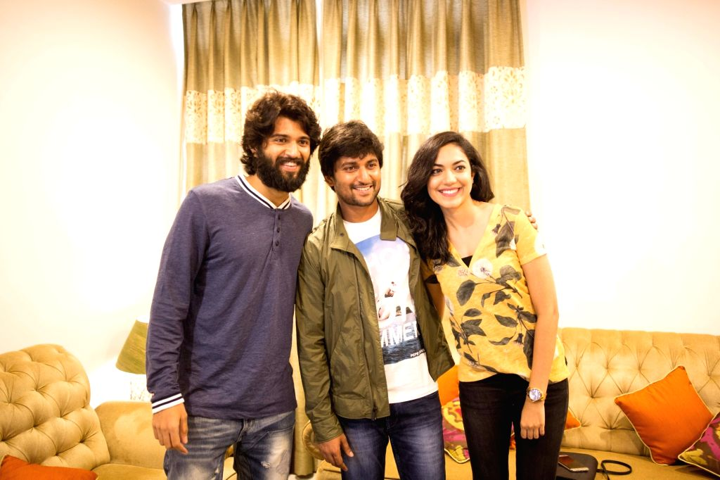 Nani Launched Pelli Cupulu Movie Motion Poster.