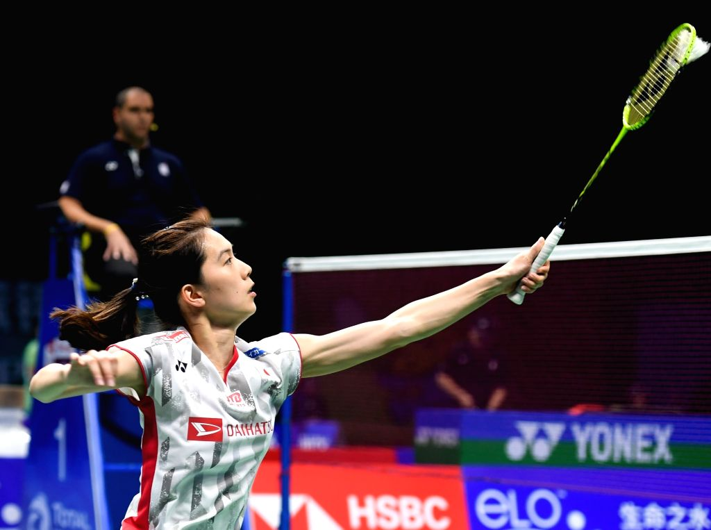 NANJING, Aug. 1, 2018 - Aya Ohori of Japan competes during the women's singles second round match against Goh Jin Wei of Malaysia at the BWF (Badminton World Federation) World Championships 2018 in ...