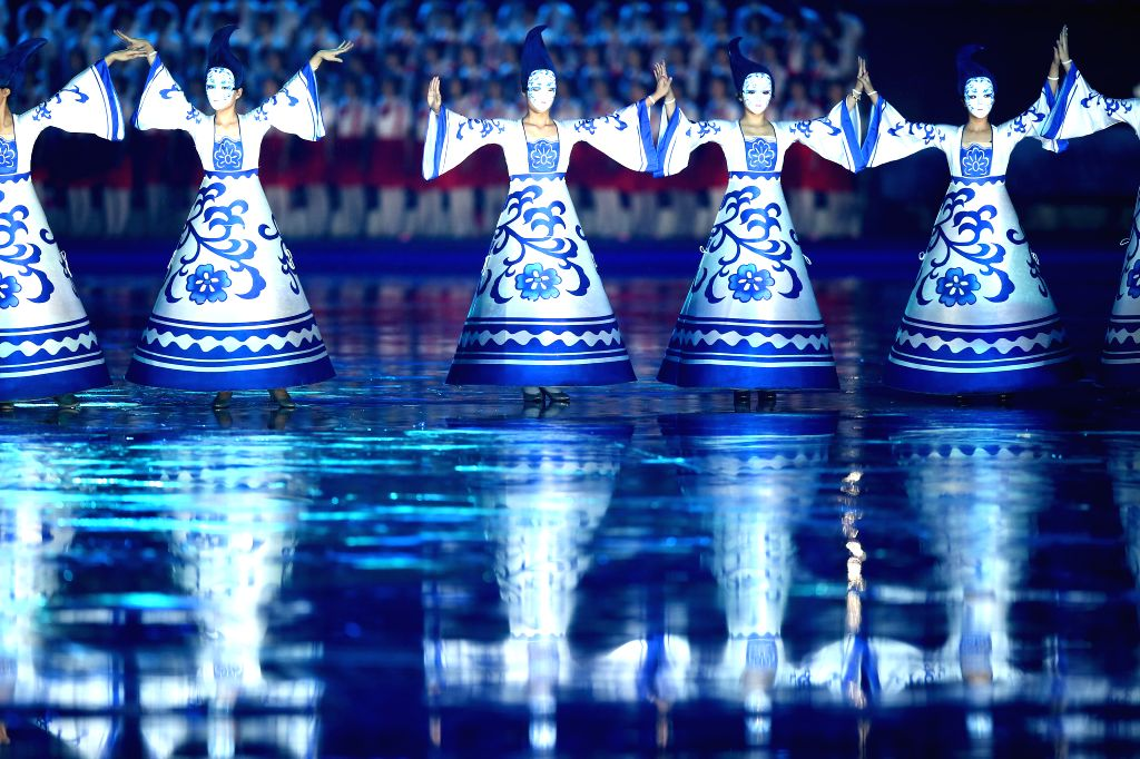 Artists perform during the Opening Ceremony of the Nanjing 2014 Youth Olympic Games in Nanjing, capital of east China's Jiangsu Province.
