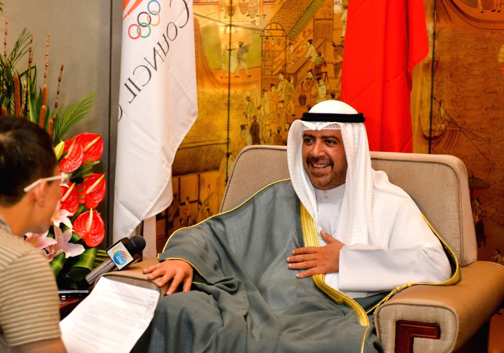 NANJING, Aug. 16Sheikh Ahmad Al-Fahad Al-Sabah, president of Olympic Council of Asia (OCA) expresses his gratitude for Nanjing's contributions to the 2nd Asian Youth Games during an ...