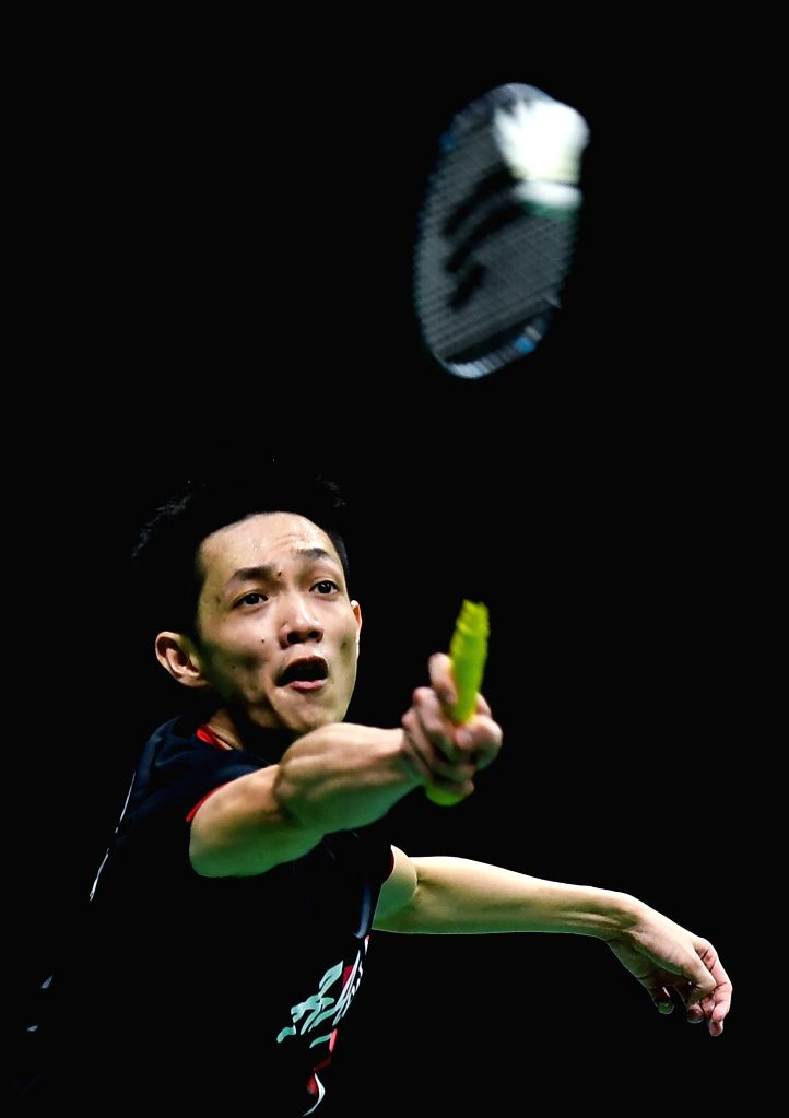 NANJING, Aug. 3, 2018 - Daren Liew of Malaysia competes during the men's singles quarterfinal match against Kanta Tsuneyama of Japan at the BWF (Badminton World Federation) World Championships 2018 ...