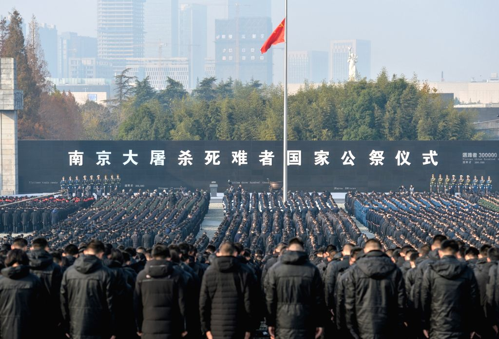 NANJING, Dec. 13, 2018 - Photo taken on Dec. 13, 2018 shows the scene of the state memorial ceremony for China's National Memorial Day for Nanjing Massacre Victims at the memorial hall for the ...
