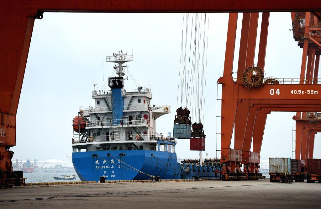 NANNING, May 10, 2017 - Photo taken on May 19, 2016 shows the Qinzhou port in south China's Guangxi Zhuang Autonomous Region. The Guangxi Beibu Gulf Port, composed of the Fangcheng, Qinzhou, Beihai ...