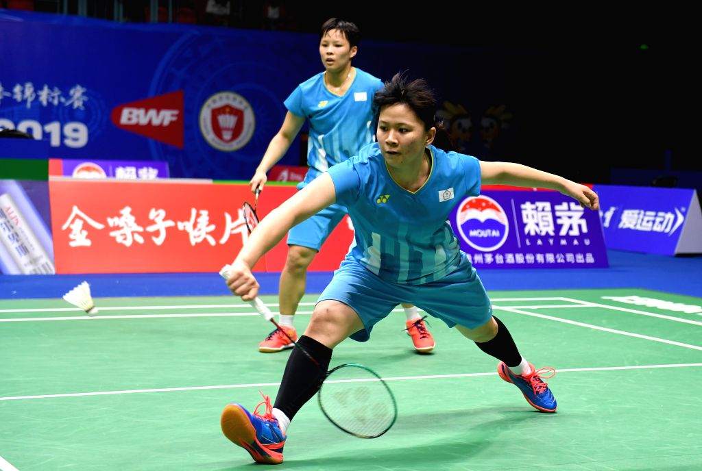 NANNING, May 22, 2019 - Chang Ching Hui(R)/Yang Ching Tun of Chinese Taipei compete during the women's doubles match against Chang Ye Na/Kong Hee Yong of South Korea in the group stage at Sudirman ...