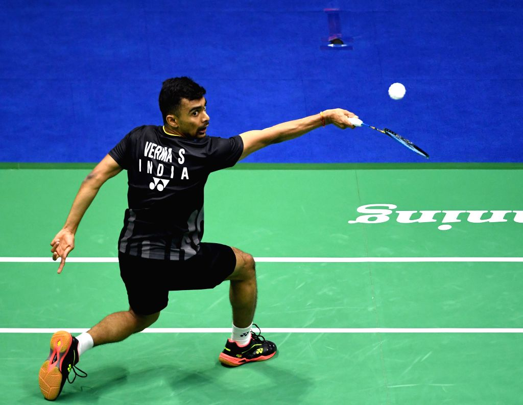 NANNING, May 22, 2019 - Sameer Verma of India competes during the men's singles match against Chen Long of China in the group match between China and India at TOTAL BWF Sudirman Cup 2019 held in ... - Sameer Verma