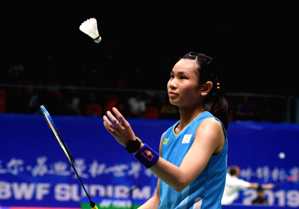 NANNING, May 22, 2019 - Tai Tzu Ying of Chinese Taipei competes during the women's singles match against An Se Young of South Korea in the group match between Chinese Taipei and South Korea at TOTAL ...