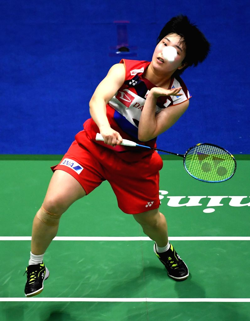 NANNING, May 26, 2019 - Akane Yamaguchi of Japan competes during women's singles match against Chen Yufei of China at the final between China and Japan of Sudirman Cup 2019 in Nanning, capital of ...
