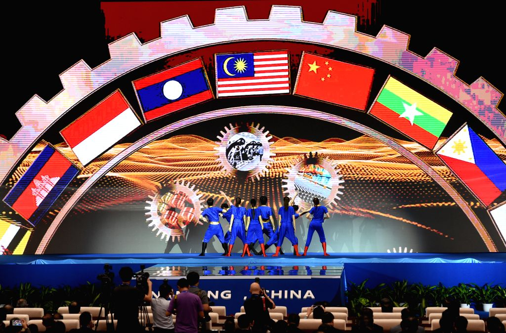 NANNING, Sept. 11, 2016 - A performance is staged during the opening ceremony of the 13th China-ASEAN Expo and the China-ASEAN Business and Investment Summit in Nanning, capital of south China's ...