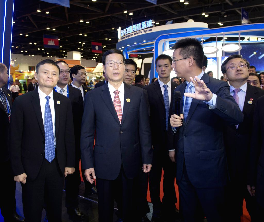 NANNING, Sept. 11, 2016 - Chinese Vice Premier Zhang Gaoli (C, Front) visits the booth of Alibaba Group after the opening ceremony of the 13th China-ASEAN Expo and the China-ASEAN Business and ...