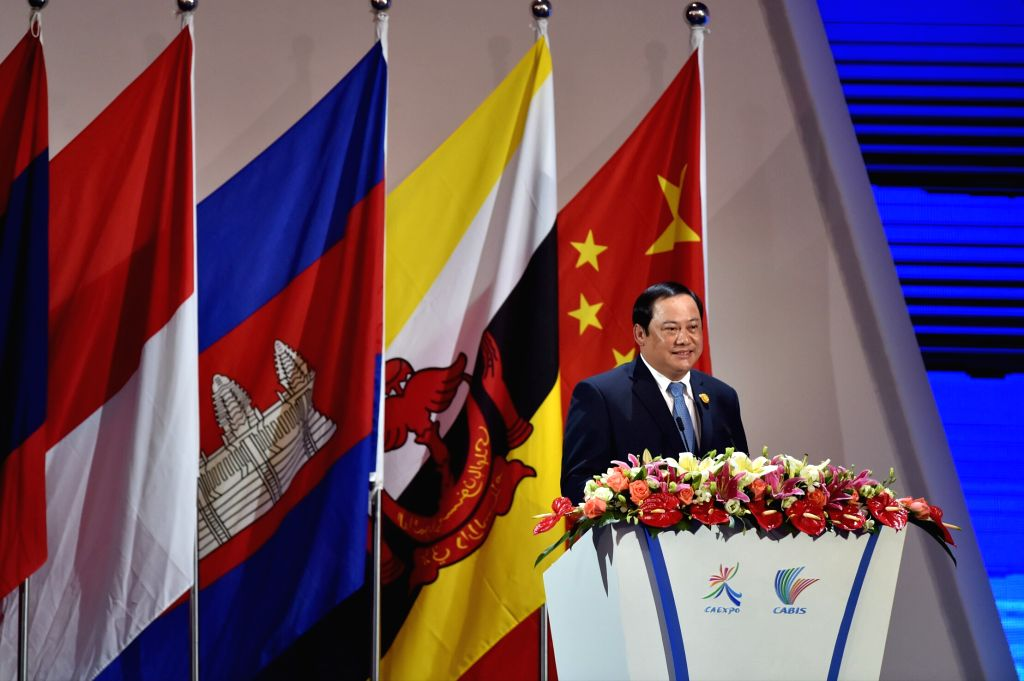NANNING, Sept. 11, 2016 - Lao Deputy Prime Minister Sonexay Siphandone addresses the opening ceremony of the 13th China-ASEAN Expo and the China-ASEAN Business and Investment Summit in Nanning, ... - Sonexay Siphandone