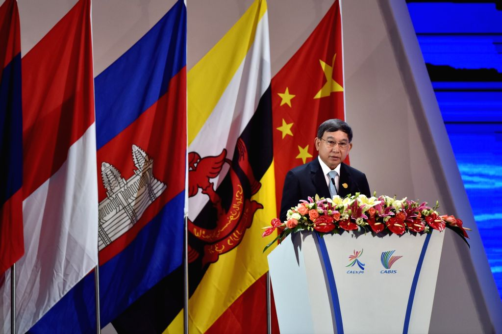 NANNING, Sept. 11, 2016 - Thai Deputy Prime Minister Prajin Juntong addresses the opening ceremony of the 13th China-ASEAN Expo and the China-ASEAN Business and Investment Summit in Nanning, capital ... - Prajin Juntong