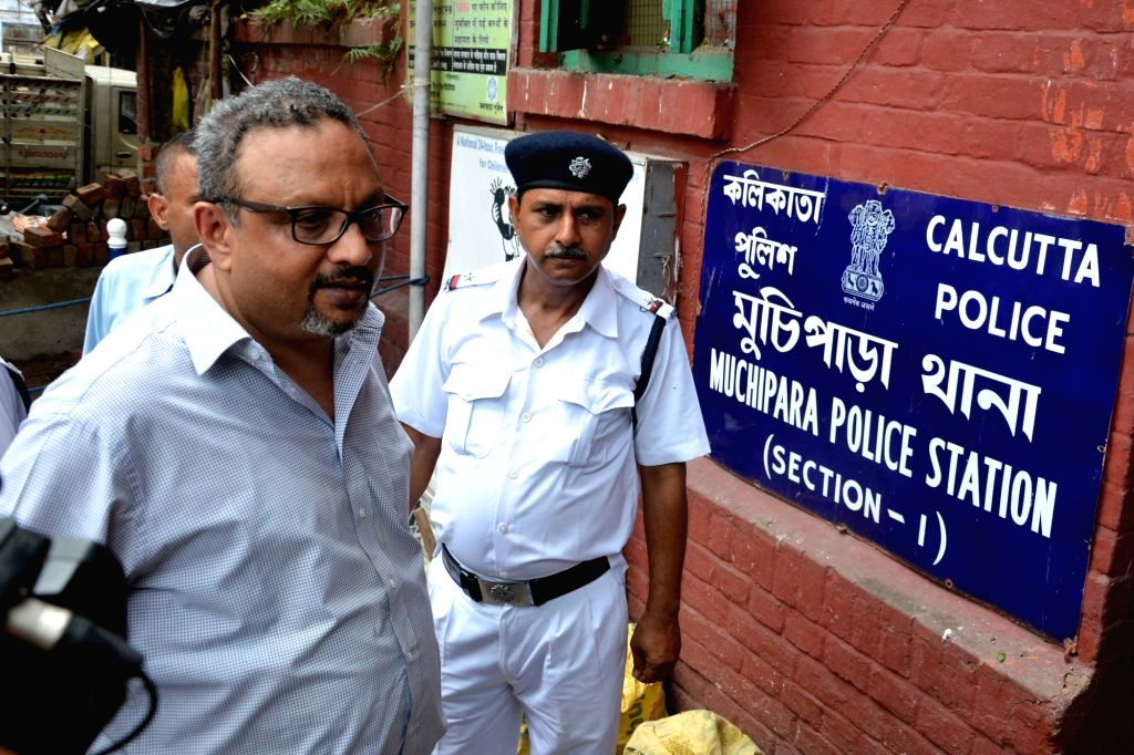 Narada News CEO Mathew Samuel arrives at Muchipara police station in Kolkata, on June 28, 2017. Samuel is being questioned on his alleged connection with Bikram Singh, who is said to have ... - Bikram Singh and P. Yadav