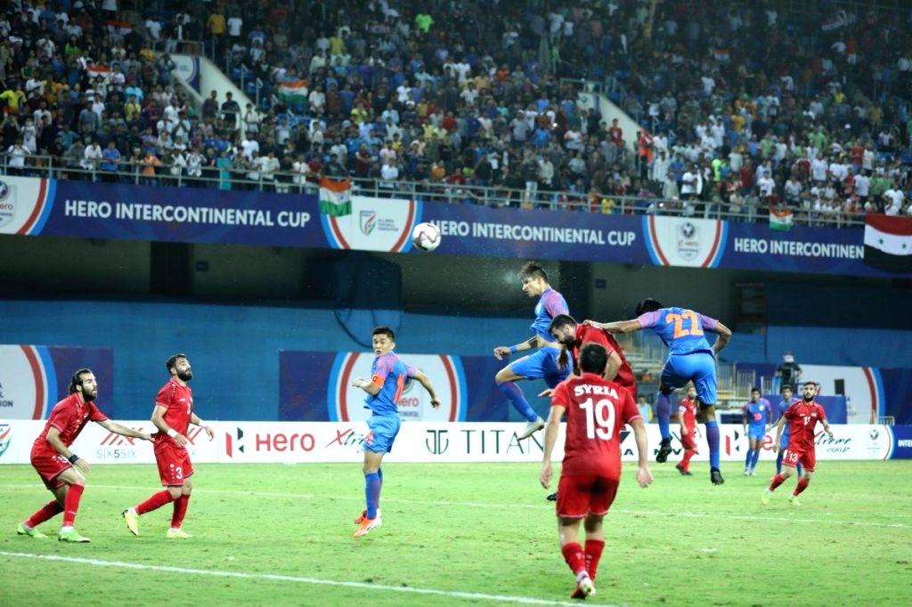 Narender Gehlot becomes 2nd youngest goalscorer for India.