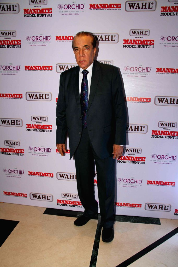 Nari Hira, CMD, Magna Publishing Company during the Wahl Mandate Male Model Hunt 2014, in Mumbai, on Aug. 24, 2014.