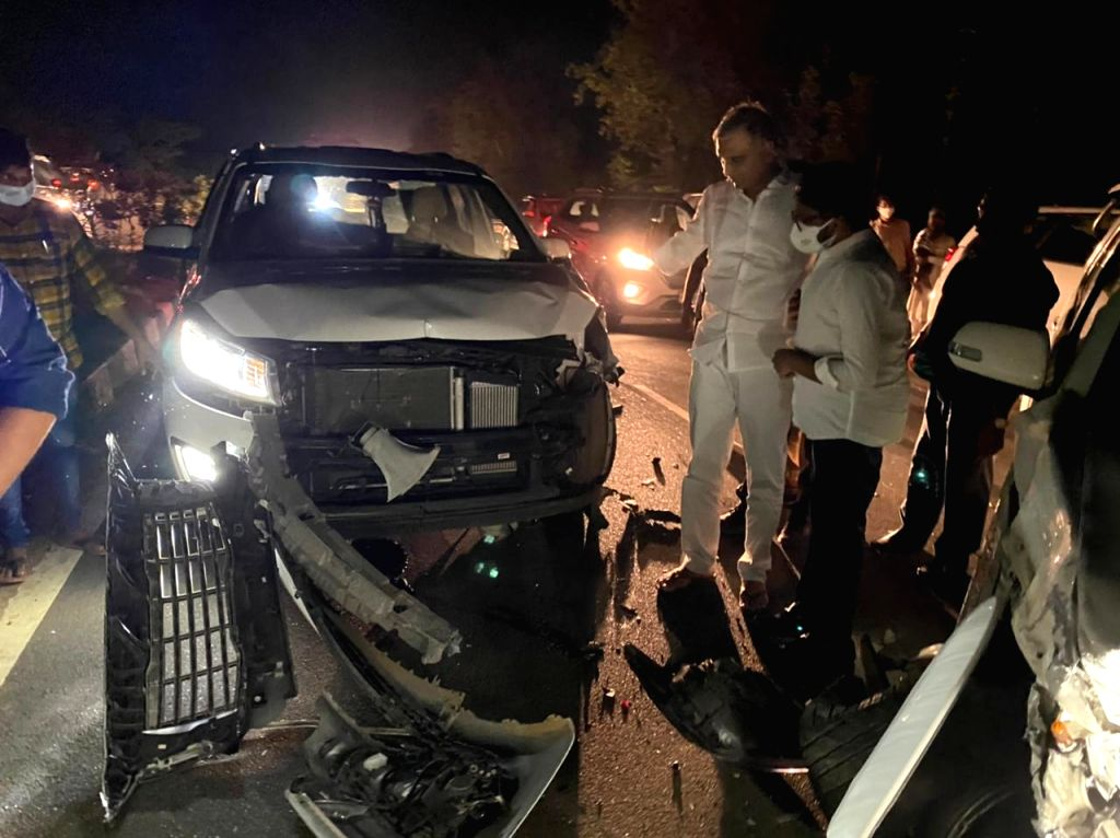 narrow escape for Telangana minister