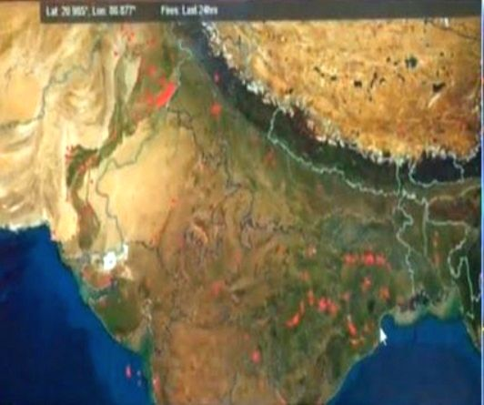 NASA images show polluted skies set to engulf north India soon.