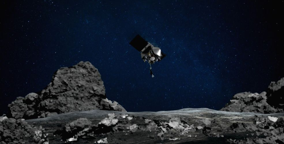 NASA's OSIRIS-REx mission readies itself to touch the surface of asteroid Bennu. (Photo: NASA/Goddard/University of Arizona)