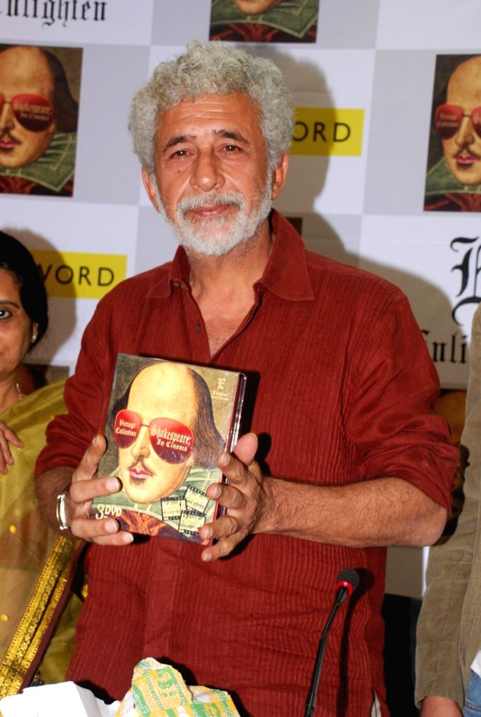 Naseeruddin Shah at the launch of Vintage Shakespeare colellection from Enlighten at  PVR Juhu.