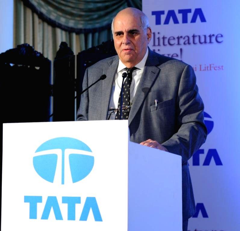 :National Centre for the Performing Arts Chairman Khushroo N. Suntook at Taj Mahal Palace in Mumbai on Nov.13, 2013. (Photo: IANS).