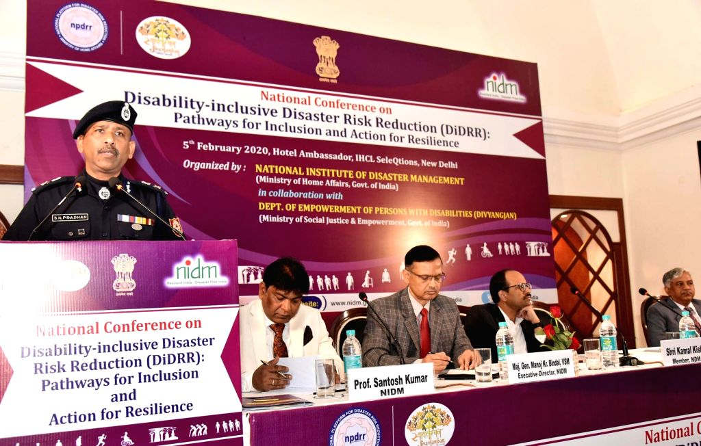 National Disaster Response Force (NDRF) DG S.N. Pradhan addresses the inaugural session of the National Conference on ???Disability-inclusive Disaster Risk Reduction: Pathways for ...