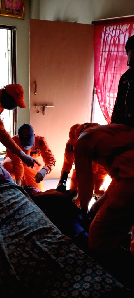 National Disaster Response Force (NDRF) personnel carry out rescue operation at LG Polymers India plant in RR Venkatapuram near Gopalpatnam in Andhra Pradesh Visakhapatnam district ...