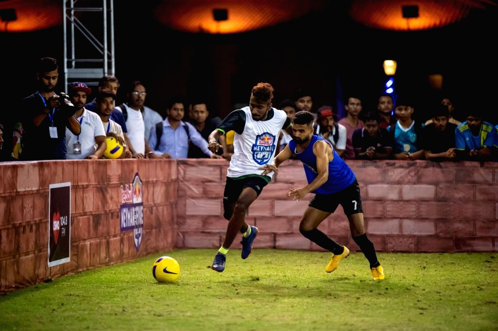 National Finals; Mumbai vs Aizawl in action.