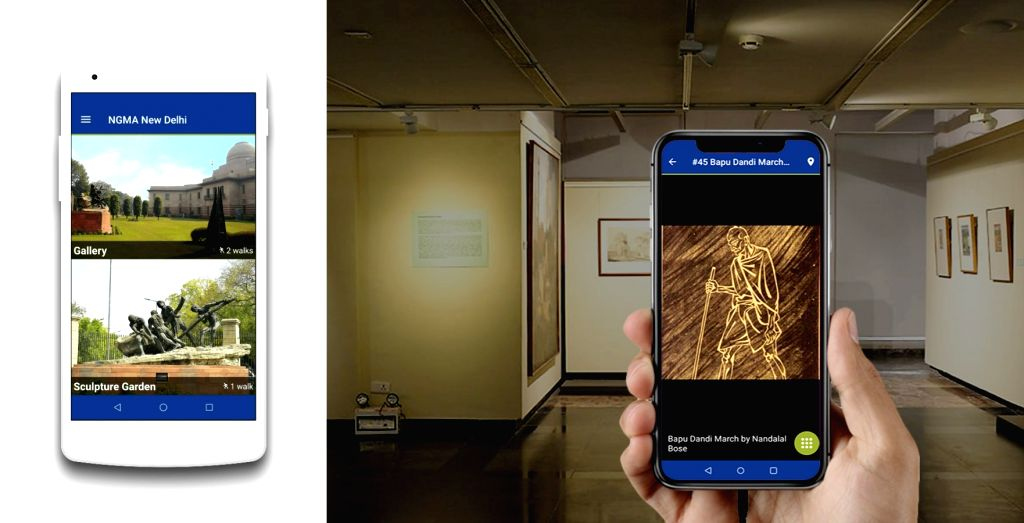 National Gallery of Modern Art launches audio-visual guide.(photo:IANSLIFE)