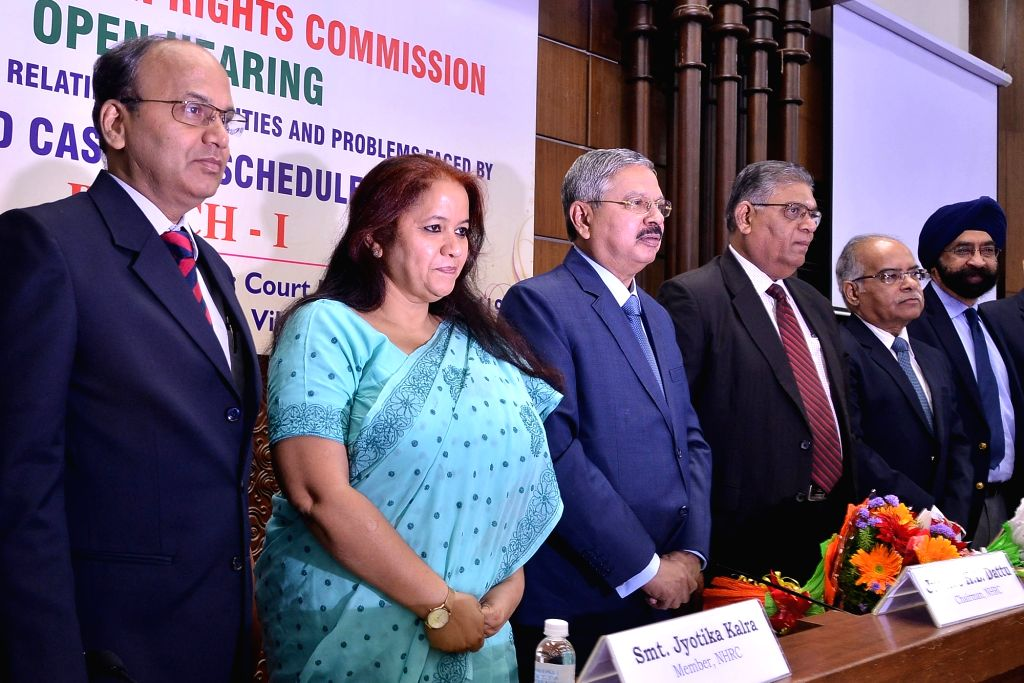 National Human Rights Commission Chairman Justice H L Dattu with the members of the Commission - Vijay Bhaskar, Jyotika Kalra and D. Murugesan during the two- day Open Hearing House ...