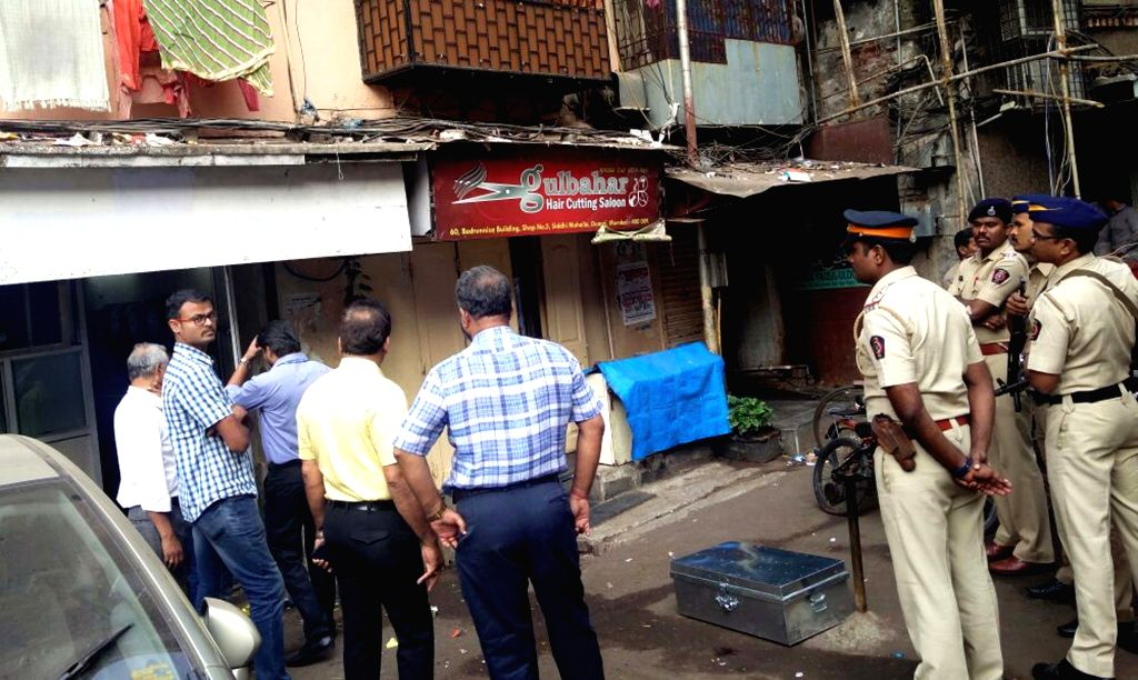 National Investigation Agency (NIA) team and Mumbai Police during a raid at Islamic Research Foundation office headed by Zakir Naik at Dongri,in Mumbai. on Nov. 19, 2016.