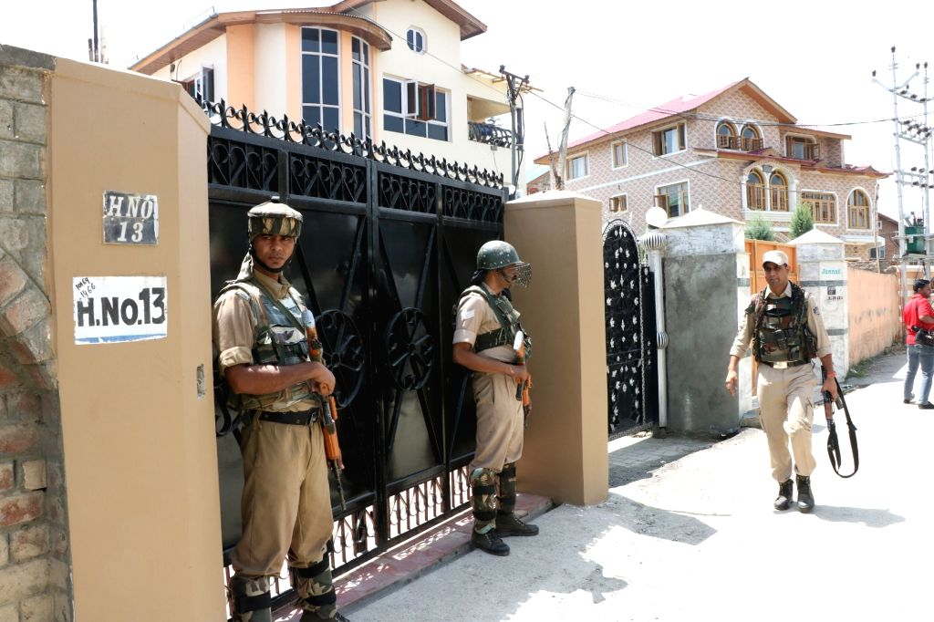 National Investigation Agency (NIA) team conduct raids on dozen places of Jammu and Kashmir in connection with its ongoing probe into the terror funding to stoke unrest in the valley, in ... - Altaf Ahmed Shah, Nayeem Khan and Aftab Hilali Shah