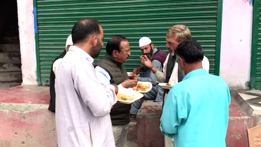 National Security Advisor Ajit Doval spotted having lunch with local residents in Shopian, Jammu and Kashmir on Aug 7, 2019.