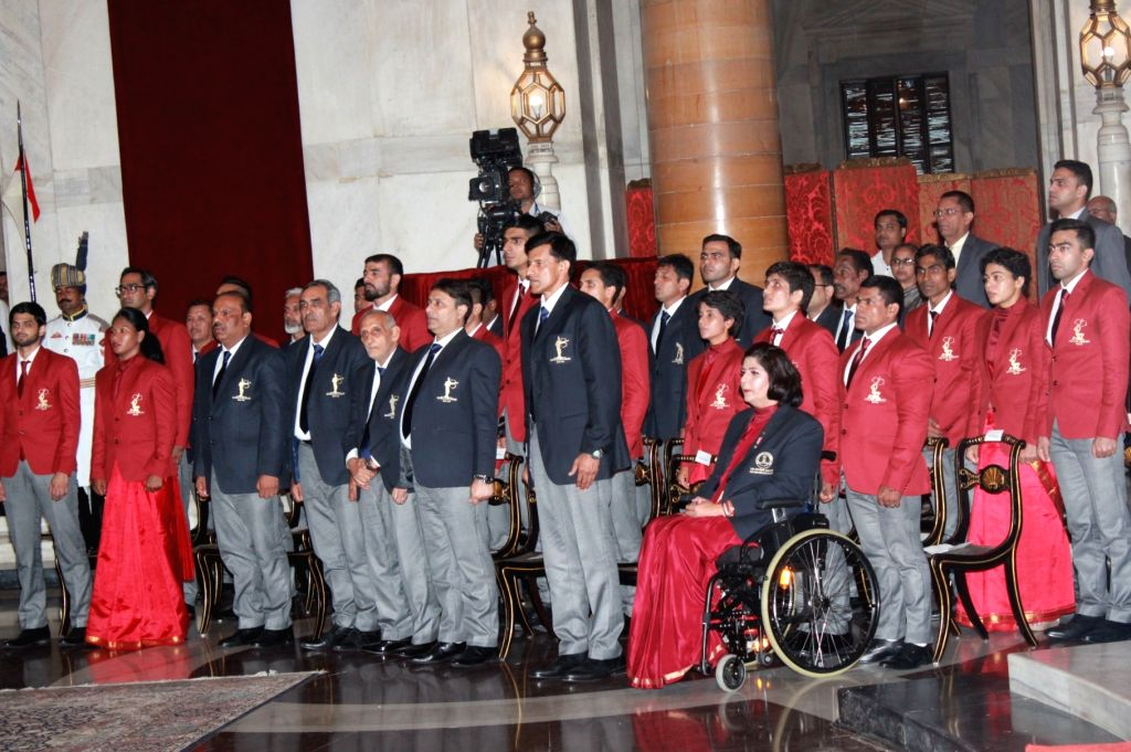 National Sports and Adventure Awards 2019 underway at Rashtrapati Bhavan, in New Delhi on Aug 29, 2019.