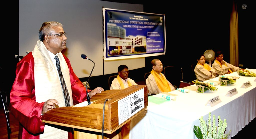 National Statistical Commission Chairman Dr. R.B. Barman addresses during the Convocation Ceremony of 70th Term International Statistical Education Centre (ISEC) organized by Indian ...