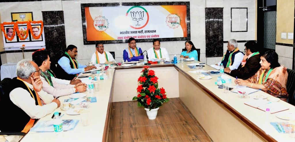 National vice-president Vasundhara Raje on Tuesday attended the BJP core group meeting for the first time ever since Satish Poonia was appointed as state party president.