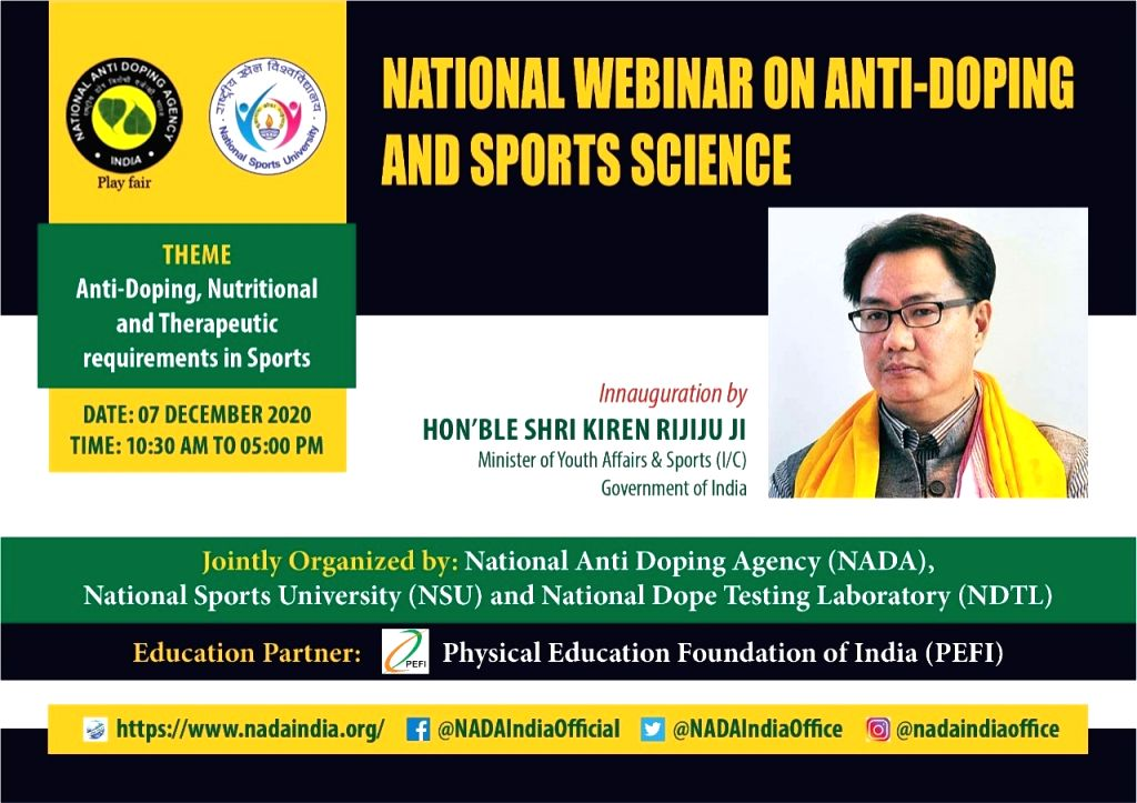National Webinar on anti doping and sports science.