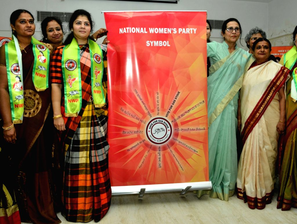 National Women's Party President Swetha Shetty during a party programme in Mumbai on Feb 21, 2019. - Swetha Shetty