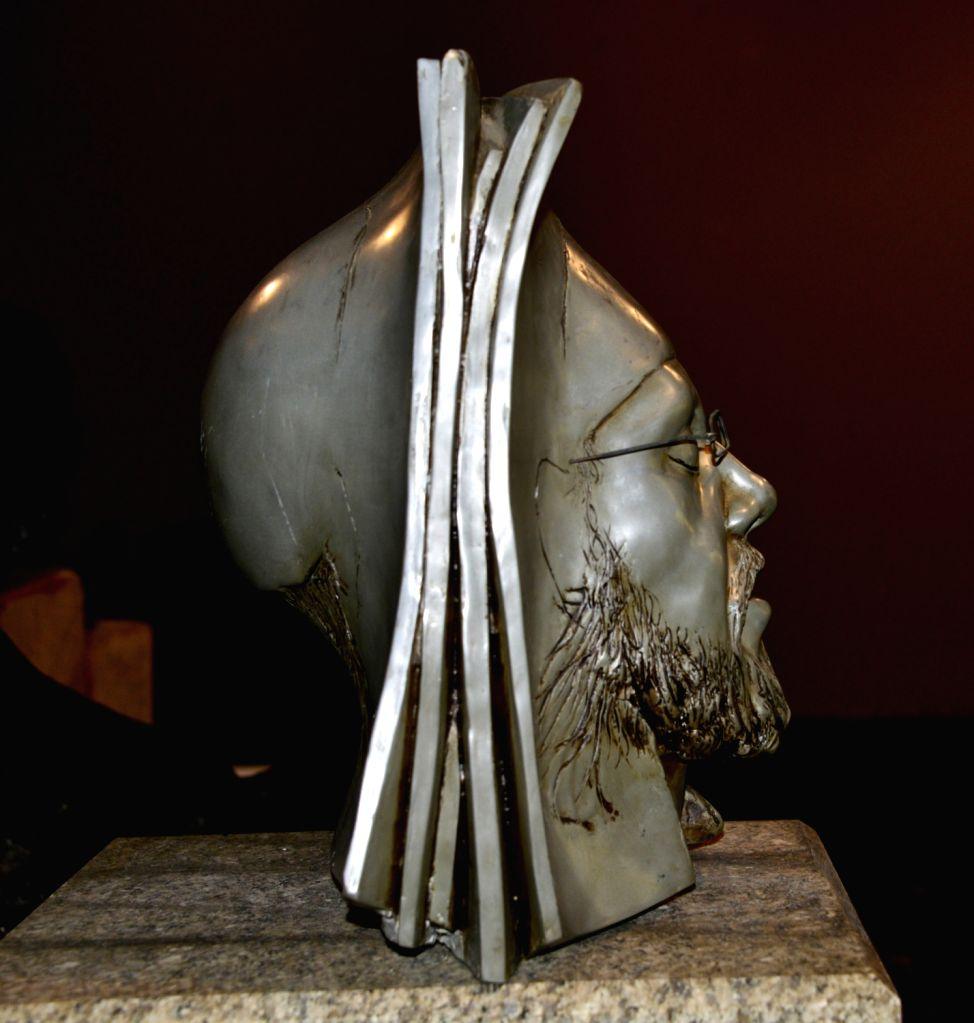 Natraj Sharma, Standing Man, Fiber glass and Wood. - Natraj Sharma