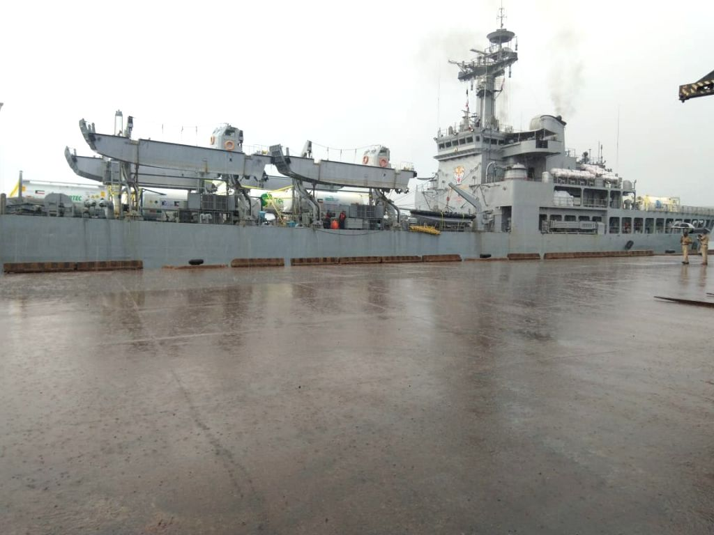 Naval ship brings 319 tonnes of oxygen to Karnataka