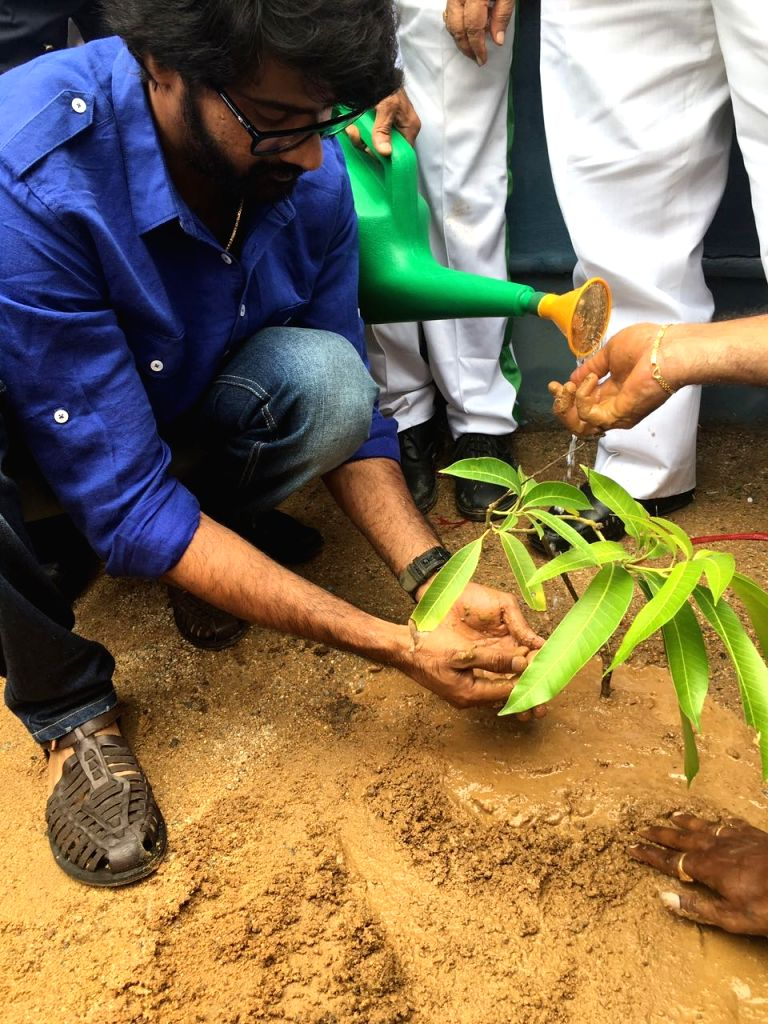 Naveen chandra Participating in Plantation.