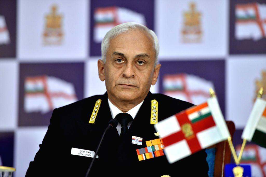Navy chief Admiral Sunil Lanba. (File Photo: IANS)