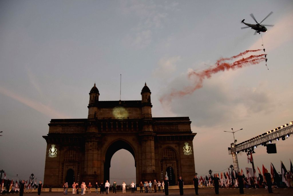 Navy Week celebrations underway, at Gateway of India in Mumbai on Dec 2, 2019.
